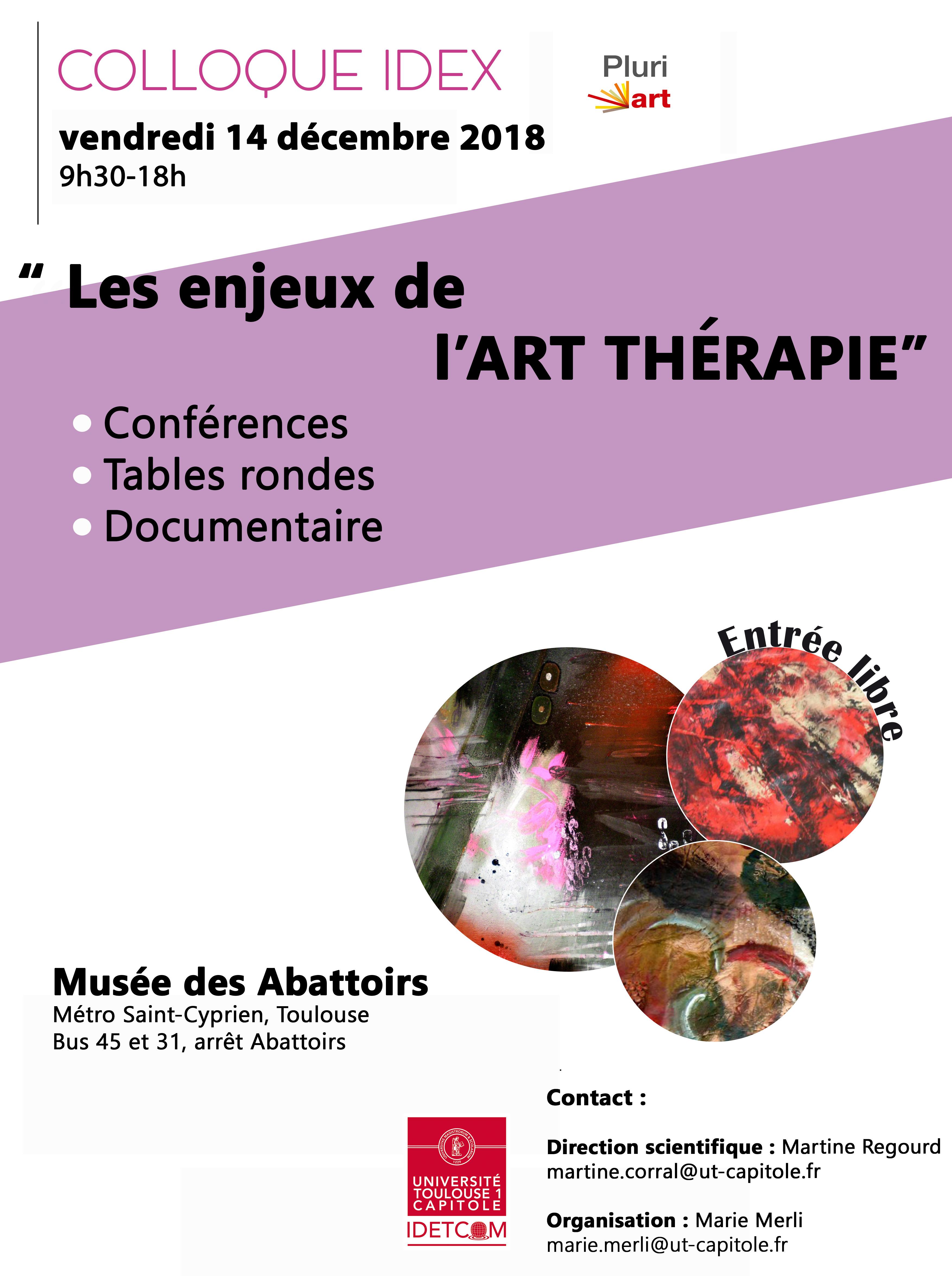 Colloque Idex Pluriart les enjeux de l'art thérapie