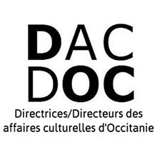 Logo DacDoc (Directrices/Directeurs des affaires culturelles d'Occitanie)